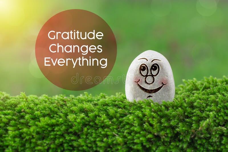 De dankbaarheid verandert alles stock foto
