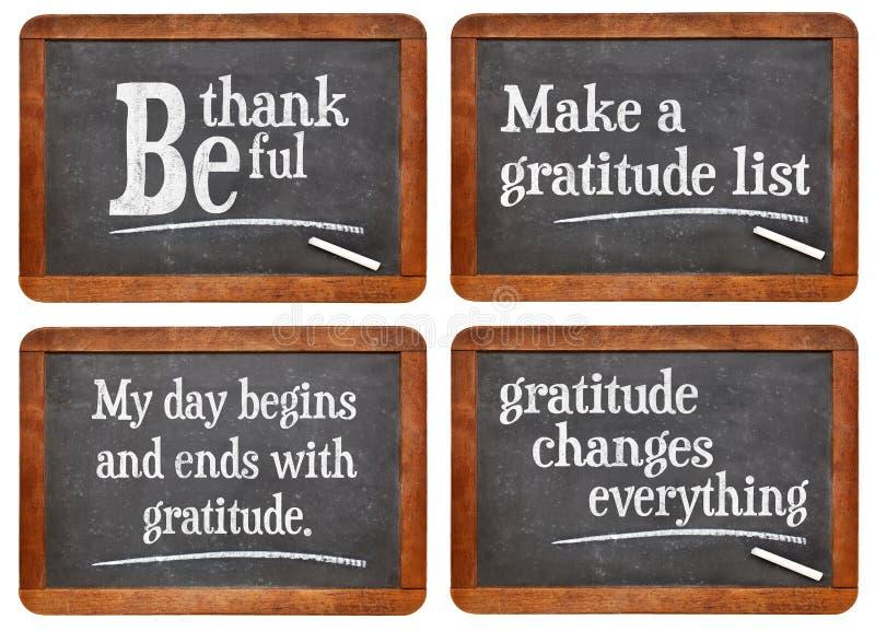 De dankbaarheid verandert alles stock fotografie