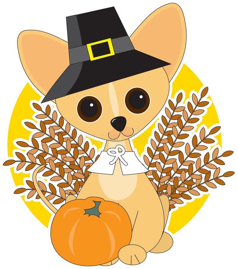 De Dankzegging van Chihuahua vector illustratie