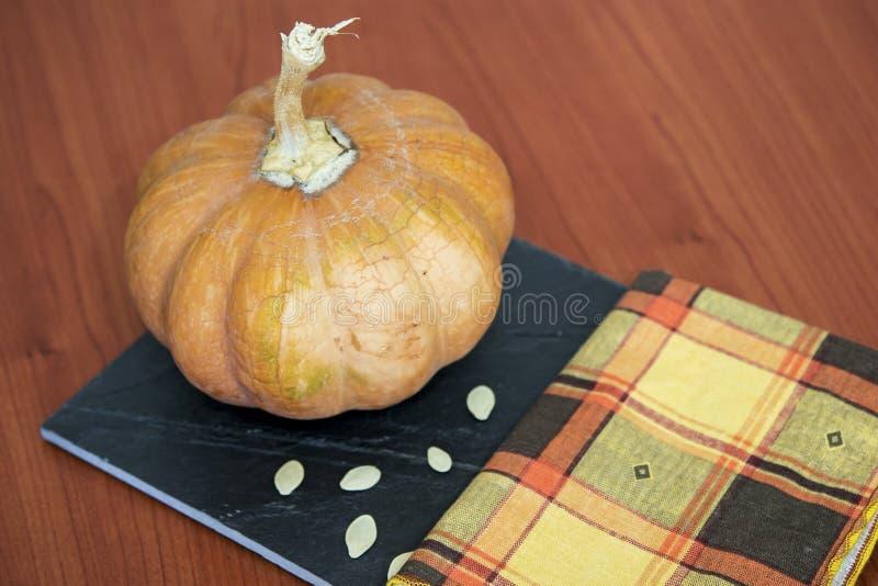 De dankzeggingsachtergrond van de de herfstpompoen stock foto