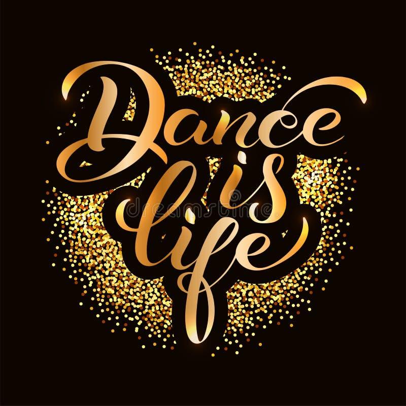 De dans is het leven stock illustratie