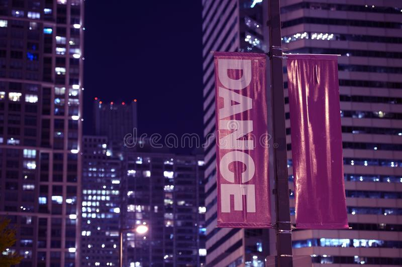 De Dans van de Banners van Pool royalty-vrije stock afbeelding