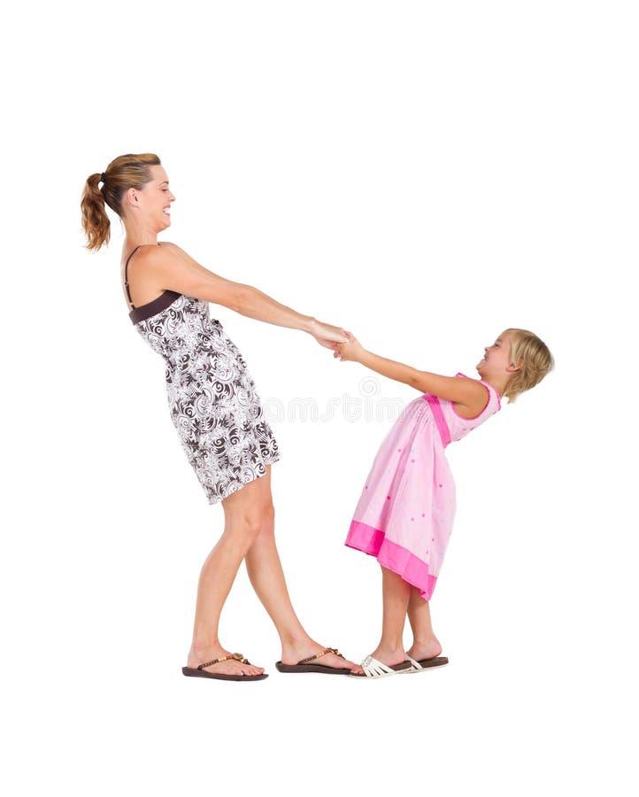 De dans van de moeder en van de dochter stock afbeeldingen
