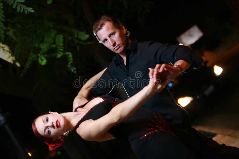 De dans van de nacht stock fotografie
