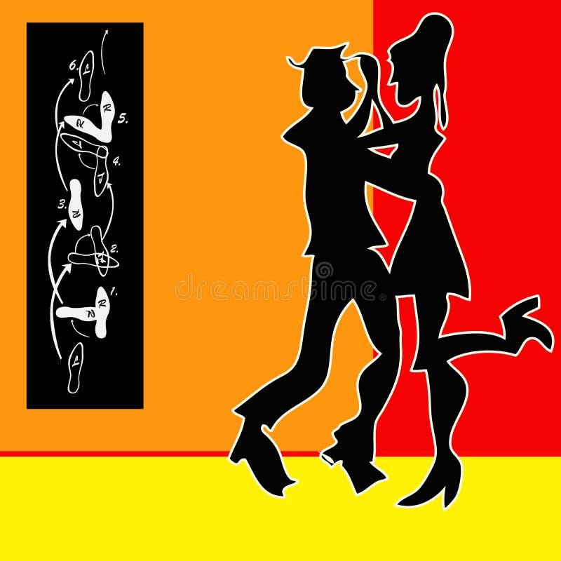 De Dans van de tango vector illustratie