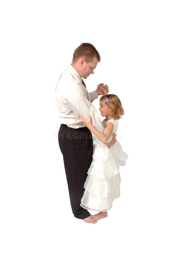De Dans van de vader en van de Dochter stock foto