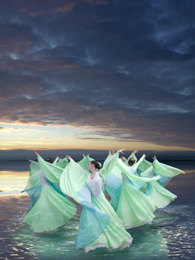 De dans van de wind royalty-vrije stock foto