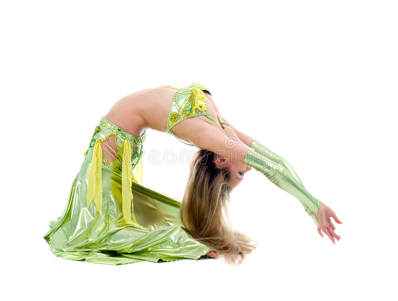 De dans van het de dansenoosten van het meisje stock fotografie