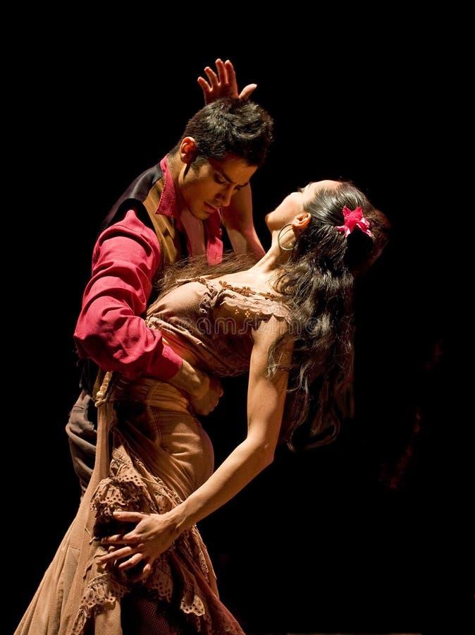 De Dans van het flamenco stock foto's
