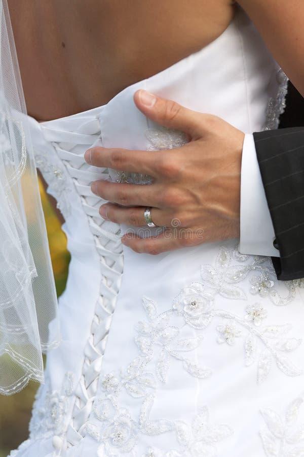 De dans van het huwelijk stock afbeelding