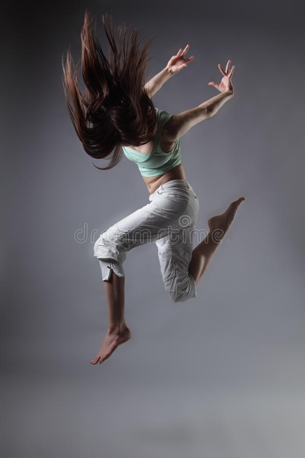 De dans van het meisje royalty-vrije stock fotografie
