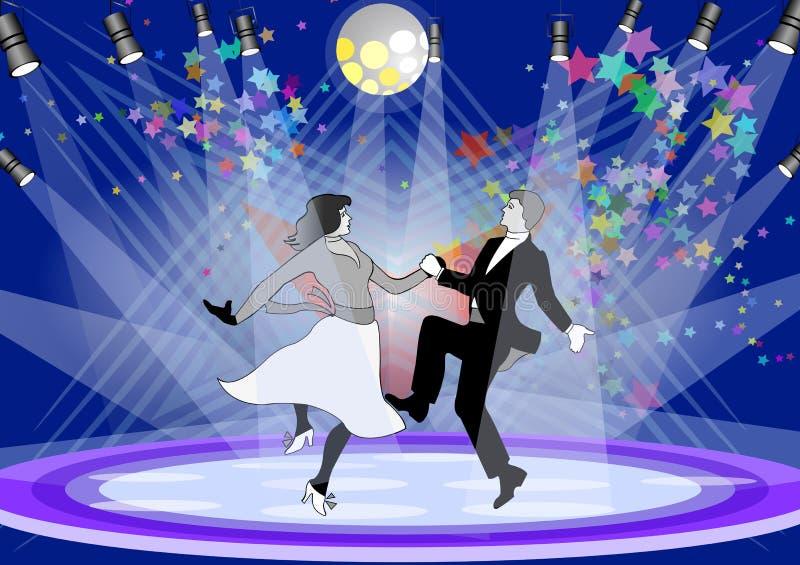 De dans van het stadium vector illustratie
