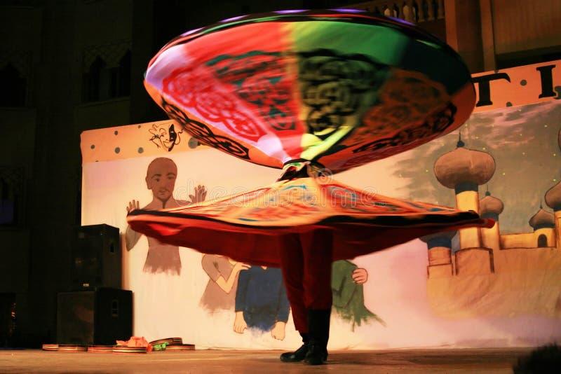 De dans van Tanoura stock foto's
