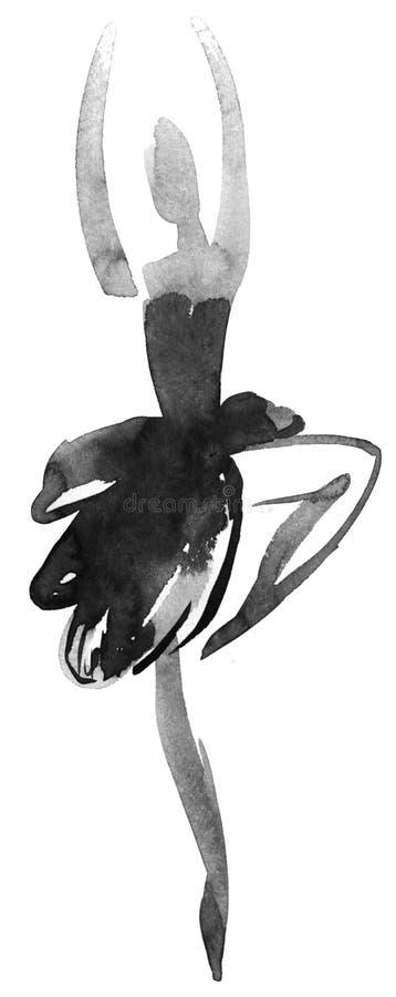 De dansen van de ballerina royalty-vrije illustratie