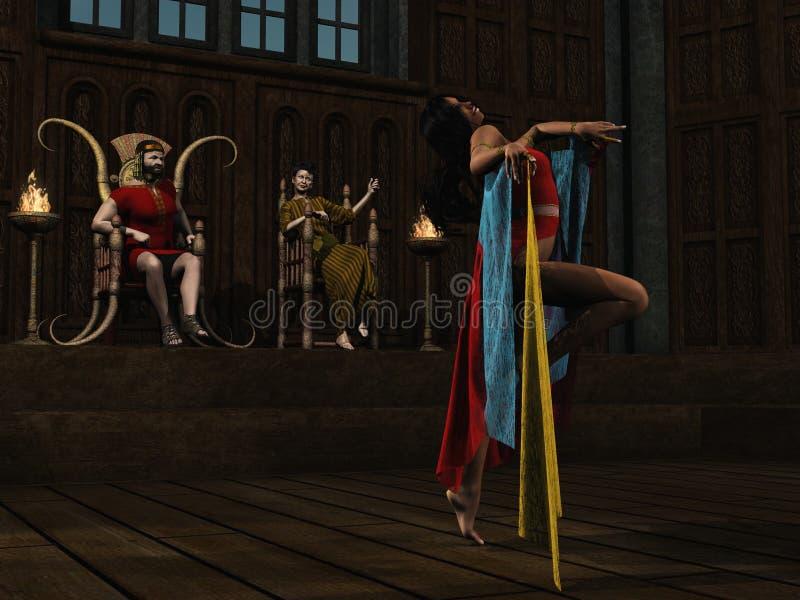 De dansen van Salome voor Herod vector illustratie