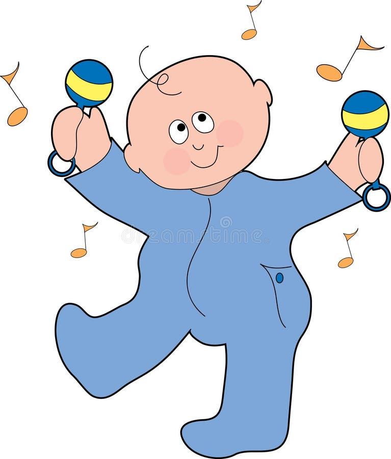 De dansende Jongen van de Baby royalty-vrije illustratie