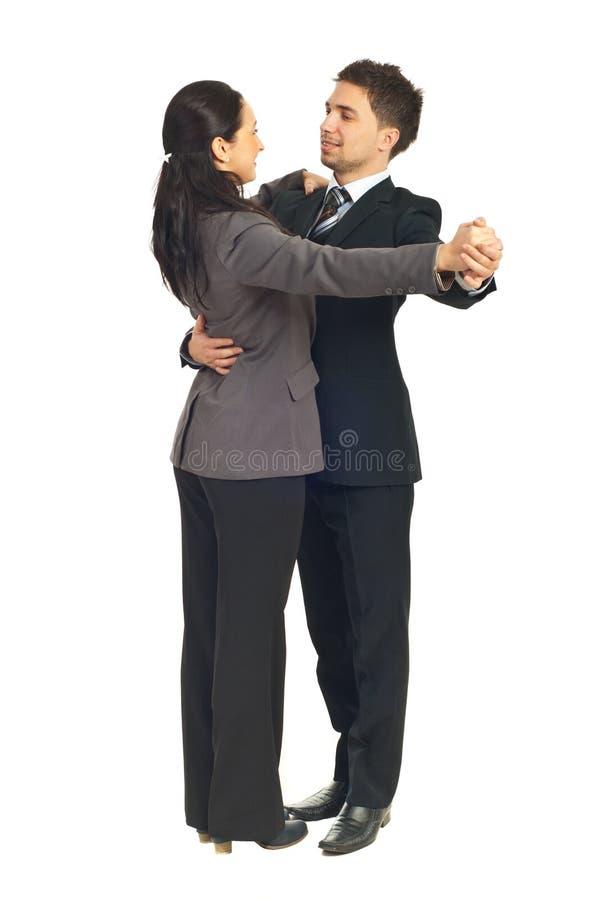 De dansende wals van bedrijfsmensencollega's stock foto's