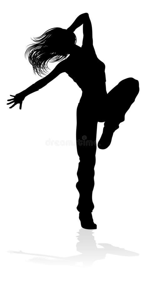 De Danser Silhouette van de straatdans royalty-vrije illustratie