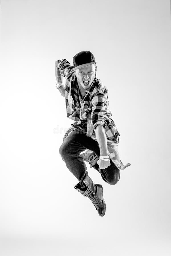 De danser in studio royalty-vrije stock foto's