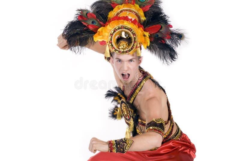 De danser van Carnaval stock foto's