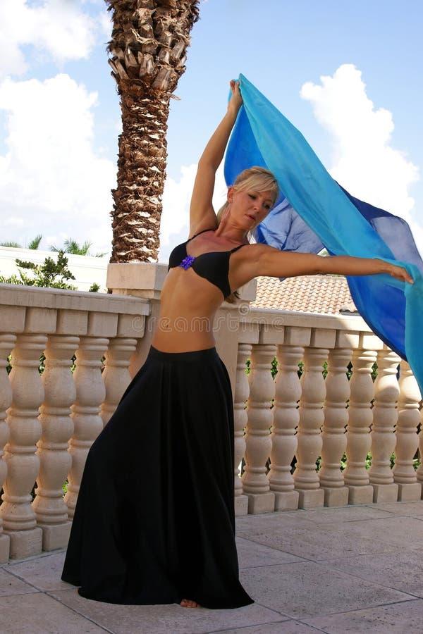 De danser van de blonde stock fotografie