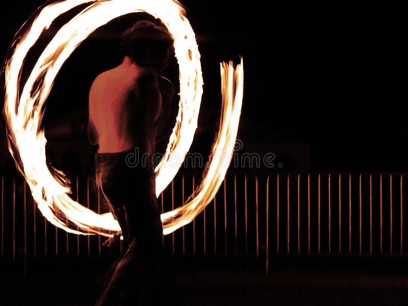 De danser van de brand stock foto's