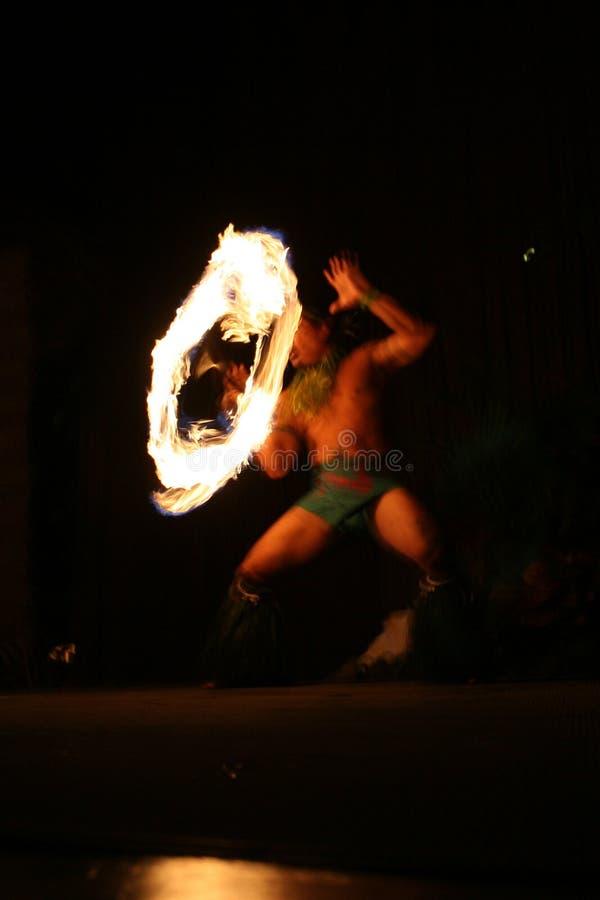 De danser van de brand in Hawaï   royalty-vrije stock foto's