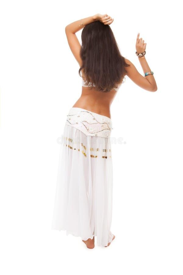 De danser van de buik van de rug stock afbeelding