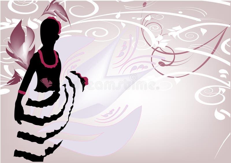 De danser van de flamingo stock illustratie