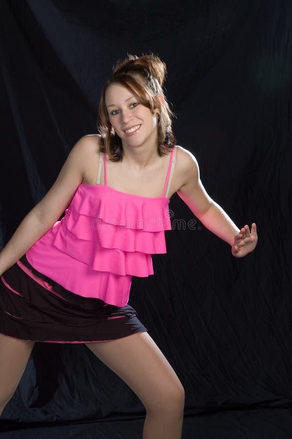 De danser van de jazz in dans stelt royalty-vrije stock foto's