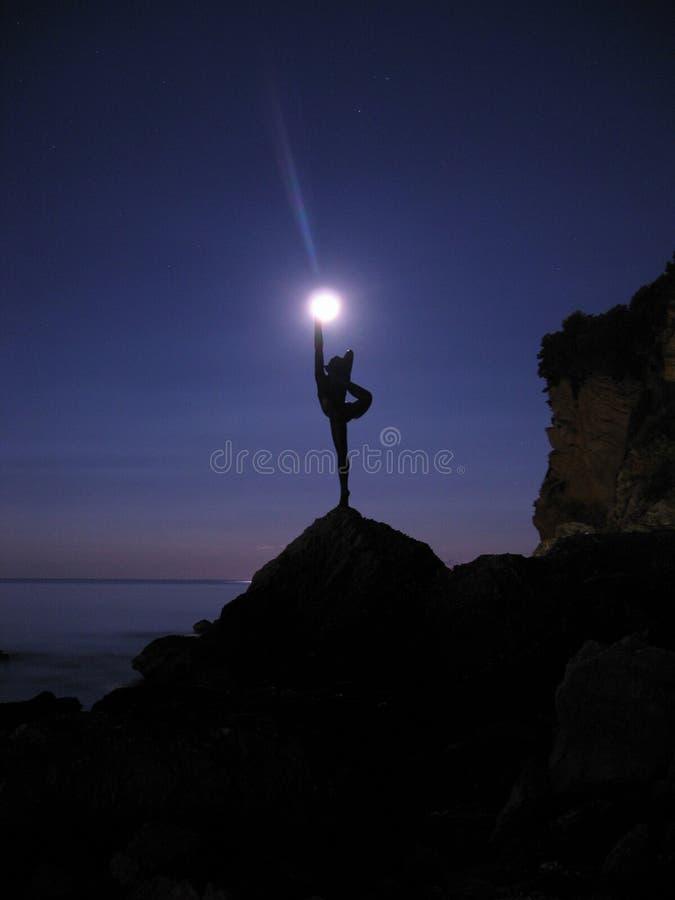 De danser van de maan stock fotografie