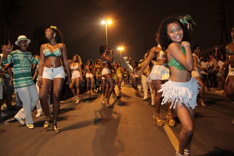 De Danser van de Samba van het kind royalty-vrije stock afbeeldingen
