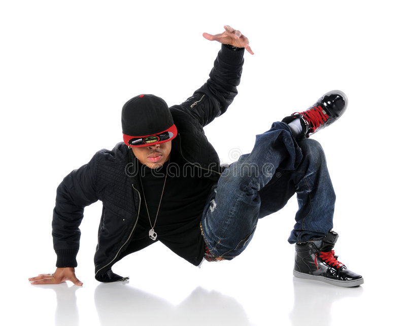 De Danser van de Stijl van Hip Hop royalty-vrije stock afbeeldingen