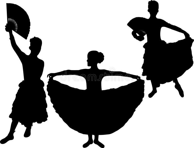 De danser van het flamenco royalty-vrije illustratie