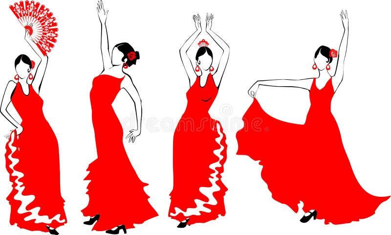 de danser het flamenco vector illustratie afbeelding
