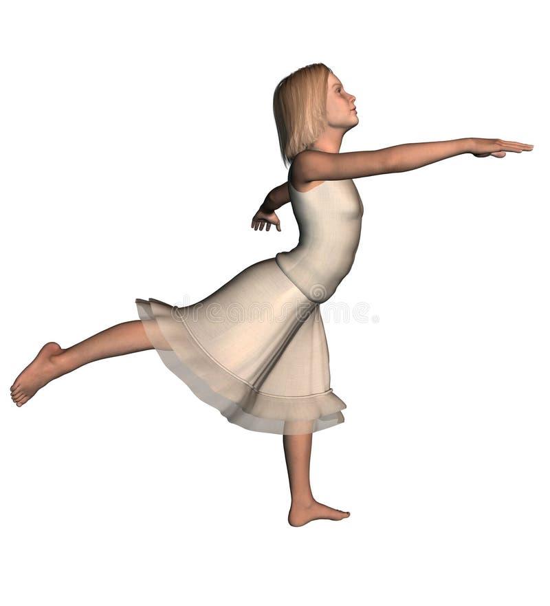 De Danser van het meisje in Rok 1 royalty-vrije illustratie