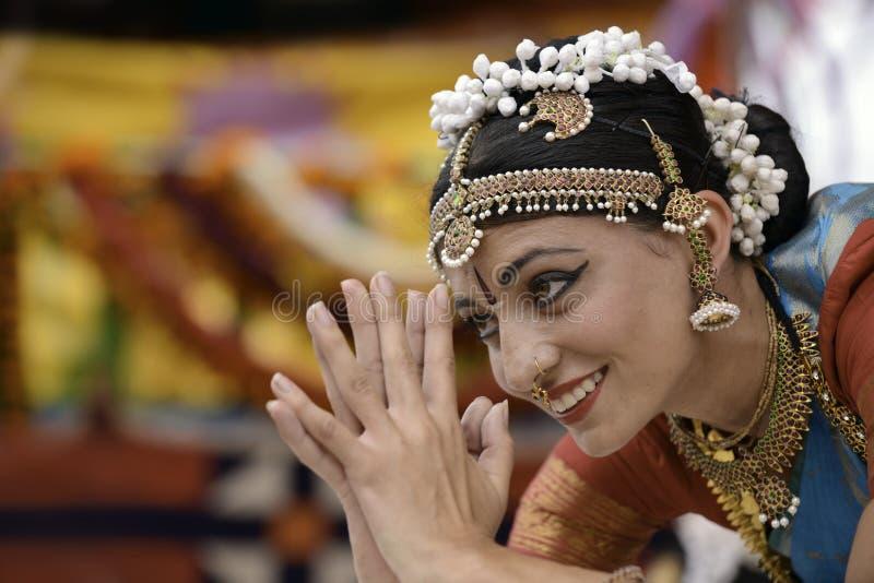 De danser van India stock afbeelding
