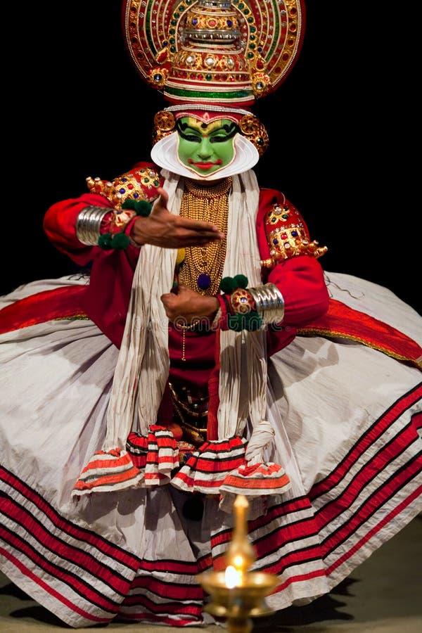 De danser van Kathakali, India stock afbeeldingen