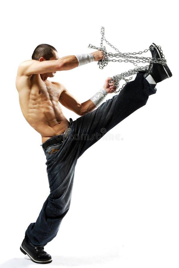 De danser van Krumping stock foto
