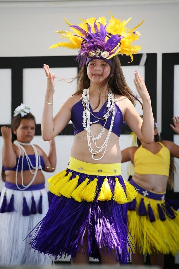 De Danser van Tahitian stock afbeeldingen