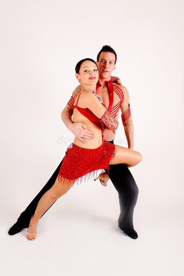 De Dansers van de balzaal stock foto