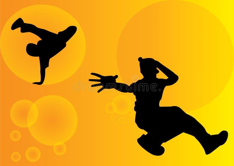 De dansers van de onderbreking stock foto