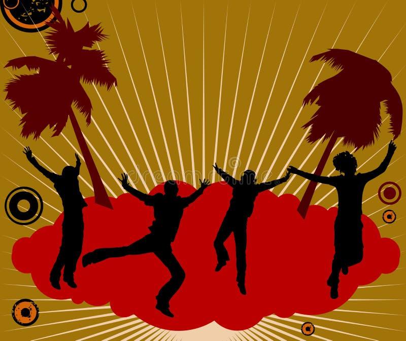 De dansers van de partij stock illustratie