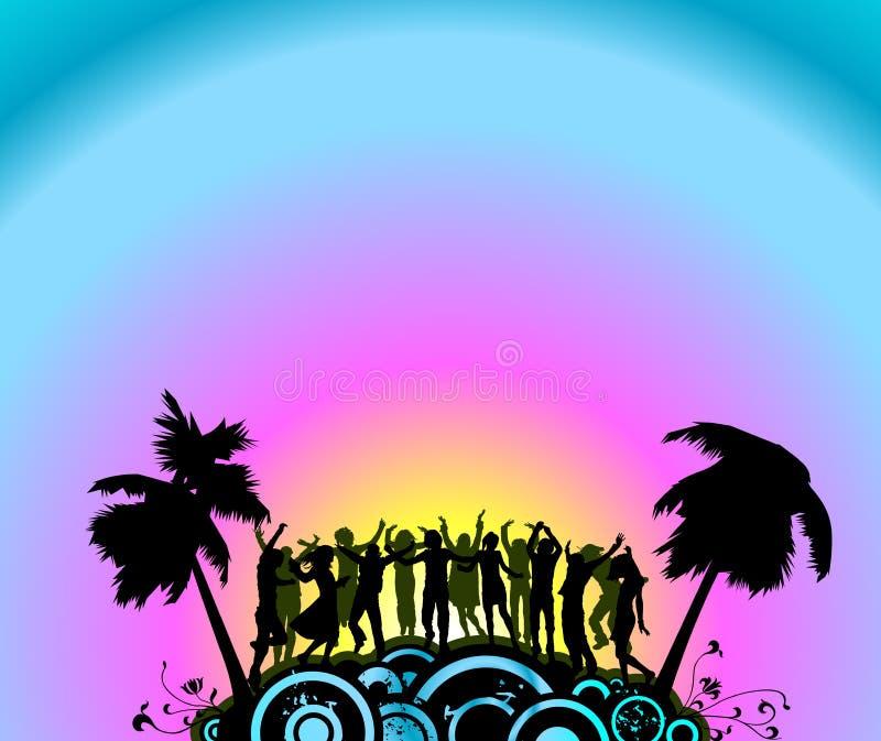 De dansers van de partij royalty-vrije illustratie