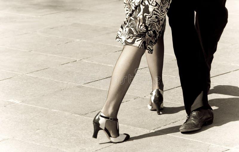 De dansers van de tango royalty-vrije stock afbeeldingen