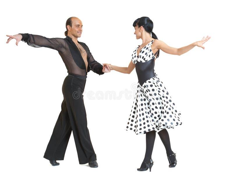 De dansersLatina van het paar stijl stock foto