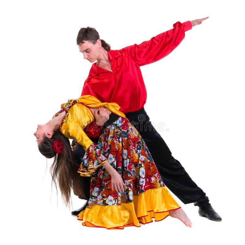 De danserspaar van het zigeunerflamenco royalty-vrije stock foto