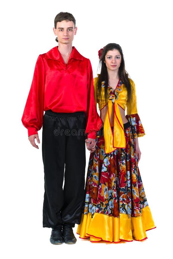 De danserspaar van het zigeunerflamenco royalty-vrije stock foto's