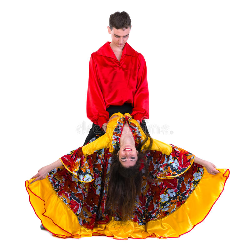 De danserspaar van het zigeunerflamenco stock afbeeldingen