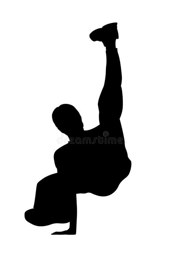 De danserssilhouet van de onderbreking vector illustratie
